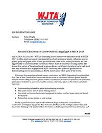 WJTA 2019 Asset Owner Press Release