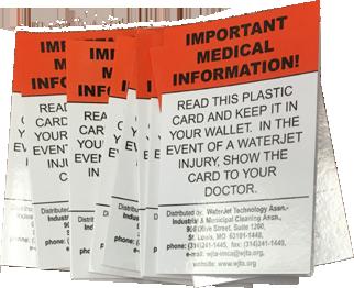 WJTA Medical Alert Card